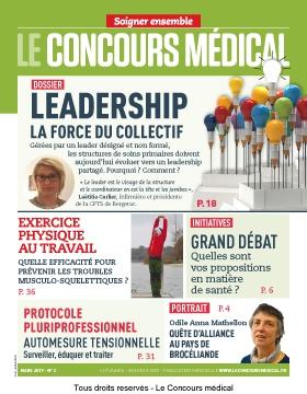 """Couverture du magazine """"Le Concours médical"""" Mars 2019"""